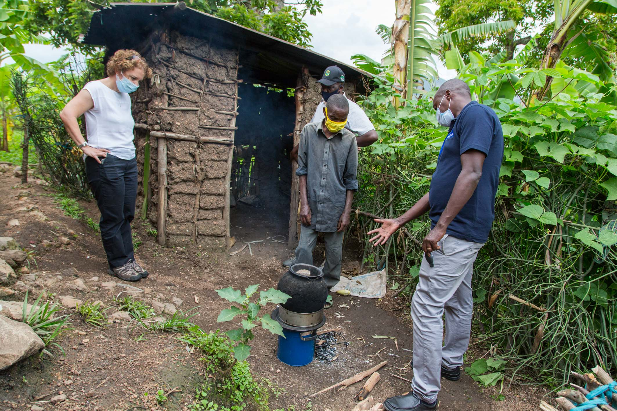 Jo Lomas visited a village to see the stove in action.
